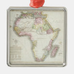 Map of Africa, 1821 Square Metal Christmas Ornament