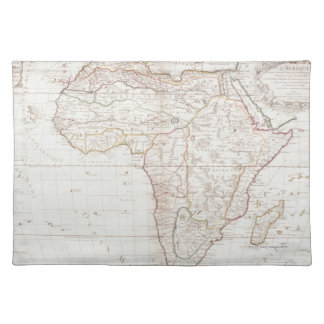 Map of Africa 2 Cloth Placemat