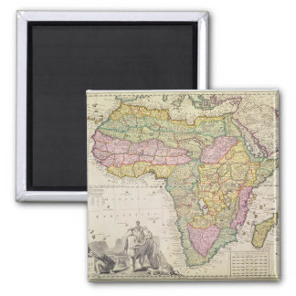 Map of Africa 2 Inch Square Magnet