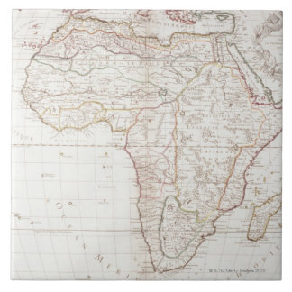 Map of Africa 2 Large Square Tile