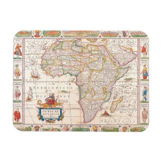 Map of Africa 2 Vinyl Magnet