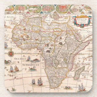Map of Africa 3 Beverage Coaster