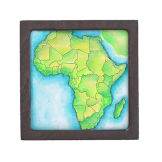 Map of Africa 3 Jewelry Box
