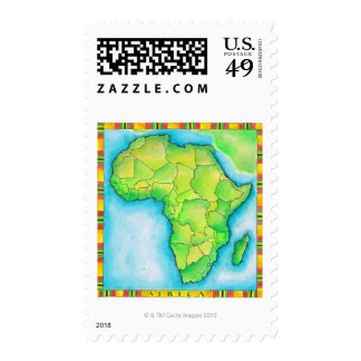 Map of Africa 3 Postage Stamp