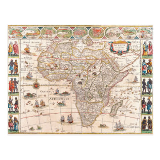 Map of Africa 3 Postcard