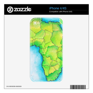 Map of Africa 3 iPhone 4S Skins