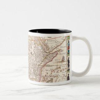 Map of Africa 3 Two-Tone Coffee Mug