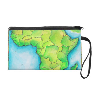 Map of Africa 3 Wristlet Purse