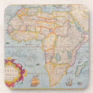 Map of Africa 4 Beverage Coaster