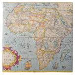 Map of Africa 4 Ceramic Tile