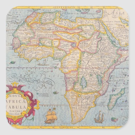 Map of Africa 4 Stickers