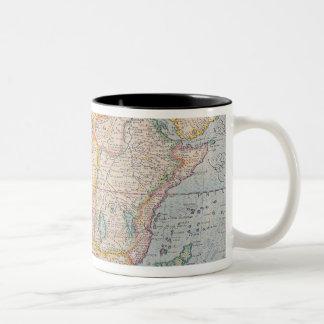 Map of Africa 4 Two-Tone Coffee Mug