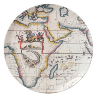 Map of Africa 5 Dinner Plate