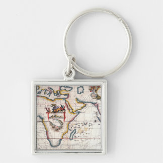 Map of Africa 5 Keychain