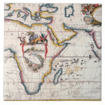 Map of Africa 5 Large Square Tile