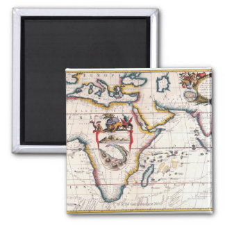 Map of Africa 5 Magnets