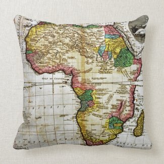 Map of Africa throwpillow