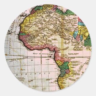 Map of Africa Classic Round Sticker