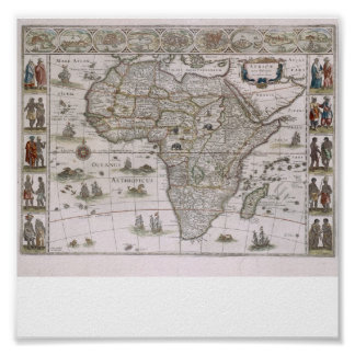map of Africa  from 1600 Poster