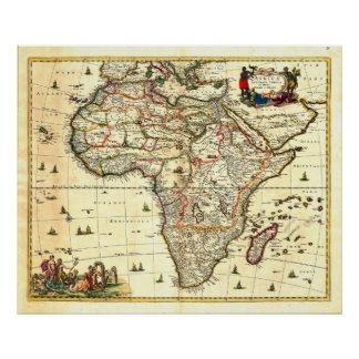 Map of Africa from 17c Posters