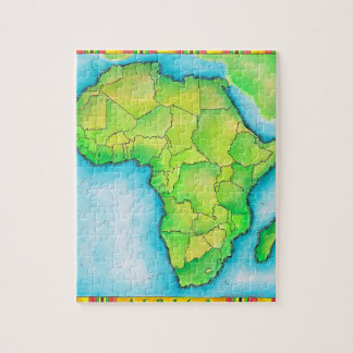 Map of Africa Jigsaw Puzzle