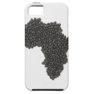 Map of Africa made of Black Beans iPhone 5 Cases