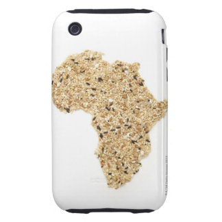 Map of Africa made of Cereals Tough iPhone 3 Cover