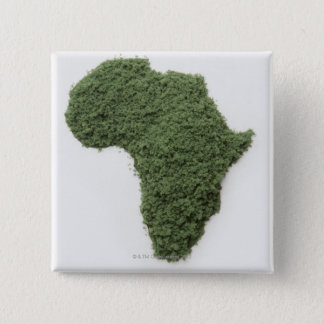 Map of Africa made of grass Button