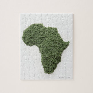 Map of Africa made of grass Jigsaw Puzzle