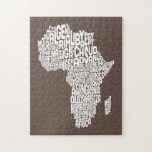 Map of Africa Map Text Art Puzzle