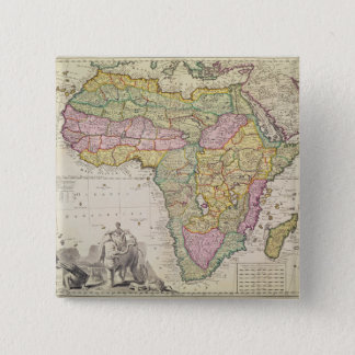 Map of Africa Pinback Button