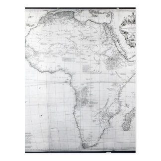 Map of Africa Postcard