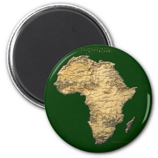Map of AFRICA Series Refrigerator Magnet