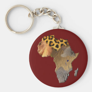 Map of Africa, The Dark Continent Keychain