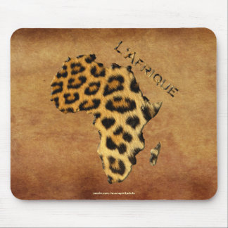Map of Africa, The Dark Continent Mouse Pad
