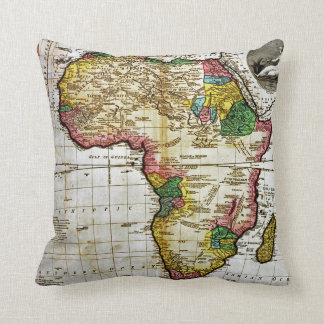 Map of Africa Throw Pillow