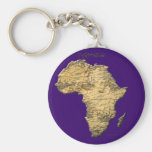 Map of AFRICA Travel Collection Key Chains