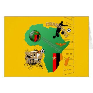 Map of Africa Zambian flag Zambia Champions 2012 Card