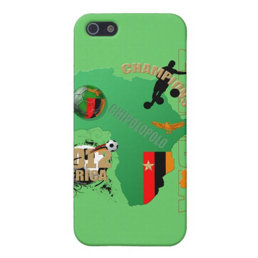 Map of Africa Zambian flag Zambia Champions 2012 iPhone 5 Cover