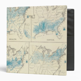 Map of Agriculture and wealth by colors 3 Ring Binder