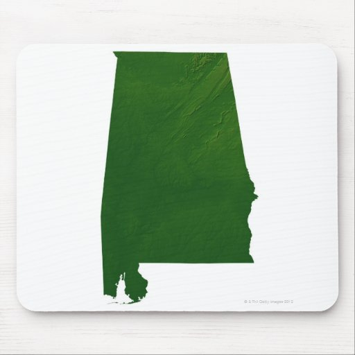 Map of Alabama Mouse Pad