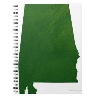 Map of Alabama Notebook