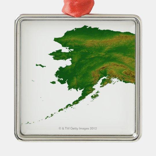 Map of Alaska 2 Metal Ornament