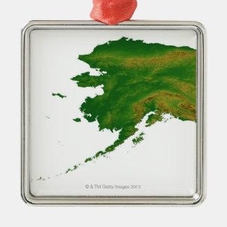 Map of Alaska 2 Ornaments