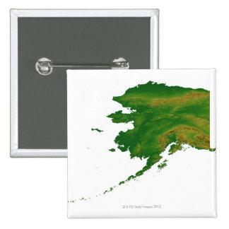 Map of Alaska 2 Pinback Button