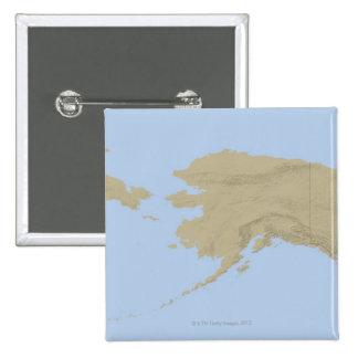 Map of Alaska 3 Button