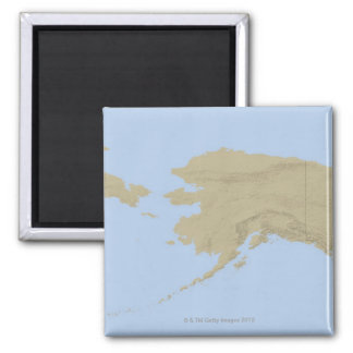 Map of Alaska 3 Magnet