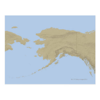 Map of Alaska 3 Postcard