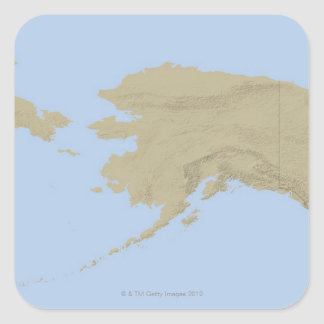 Map of Alaska 3 Stickers