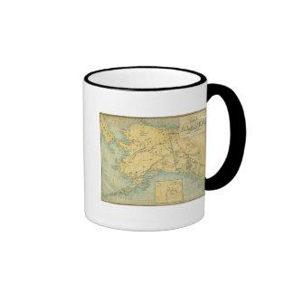 Map Of Alaska Ringer Mug